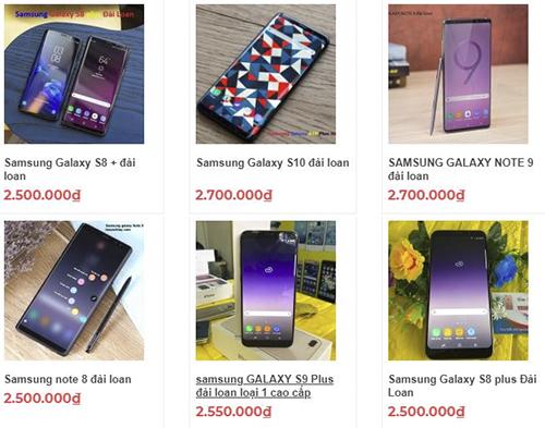 Galaxy Note9, Galaxy S10 rao bán trên mạng.