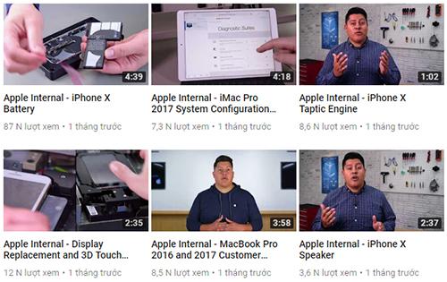 Video nội bộ quy trình sửa chữa các thiết bị của Apple bị rò rỉ.