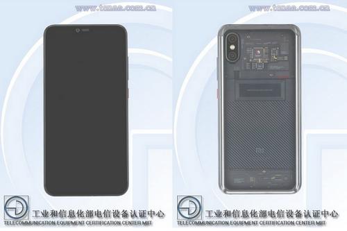 Hình ảnh Mi Note 4 với mặt lưng trong suốt xuất hiện trên TENAA.
