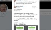 Tài khoản 'Donald Trump' tặng người xem bitcoin