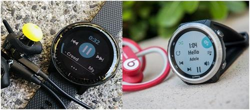 Forerunner 645 Music (ảnh phải) và vívoactive 3 Music (ảnh trái) cũng là 2 sản phẩm hỗ trợ tính năng phát nhạc nhưng có mức giá mềm hơn.