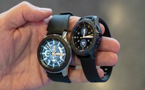 Hai mẫu Galaxy Watch kích thước 46mm và 42mm. Ảnh: AndroidCentral
