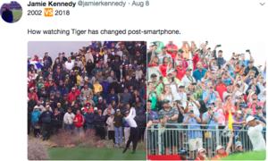 Smartphone thay đổi thế giới ra sao qua hai ảnh chụp Tiger Woods