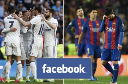 Người dùng Facebook ở khu Ấn Độ có thể xem các trận đấu của Real Madrid, Barcelona ở La Liga miễn phí từ mùa giải 2018 - 2019 khai mạc ngay cuối tuần này. Ảnh: mirror.