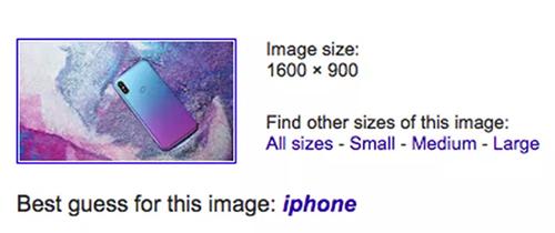 Google nhầm hình ảnh Moto P30 là của iPhone.