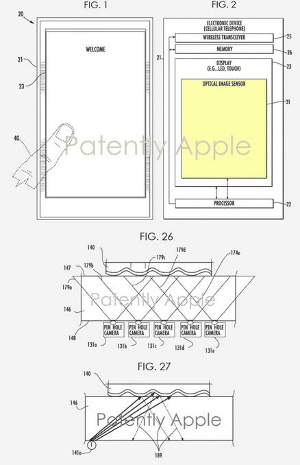 Sáng chế mô tả tính năng cảm biến vân tay dưới màn hình của Apple.