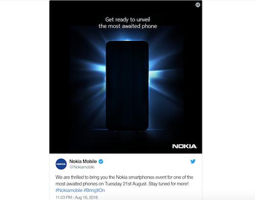 Bài đăng của Nokia Mobile trên Twitter.