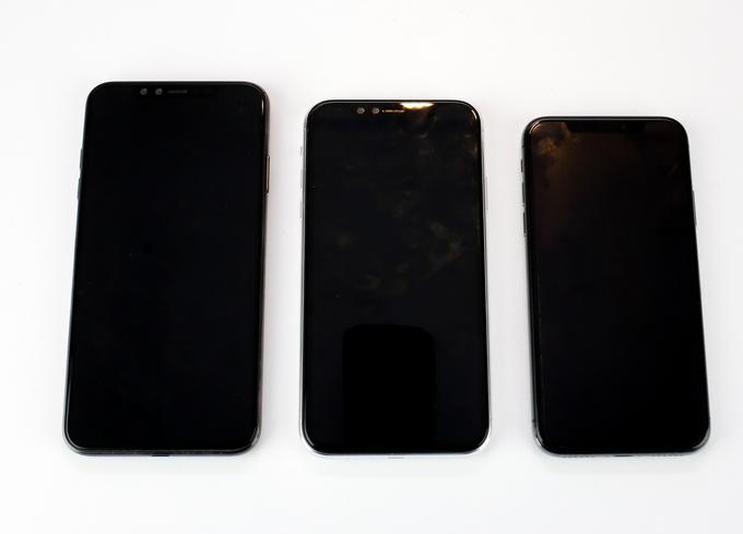Các mô hình iPhone 2018 xuất hiện tại TP HCM so kích thước với iPhone X