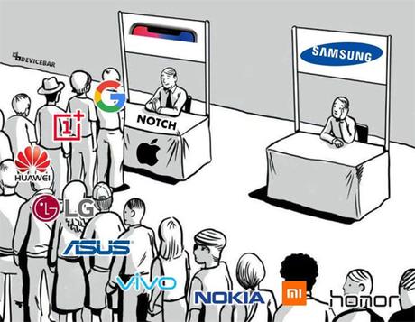 Hàng loạt nhà sản xuất Android công khai bắt chước thiết kế của iPhone X. Ảnh: Reddit