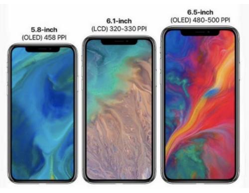 Bộ ba iPhone 2018 có thể ra mắt vào 11/9 tới.