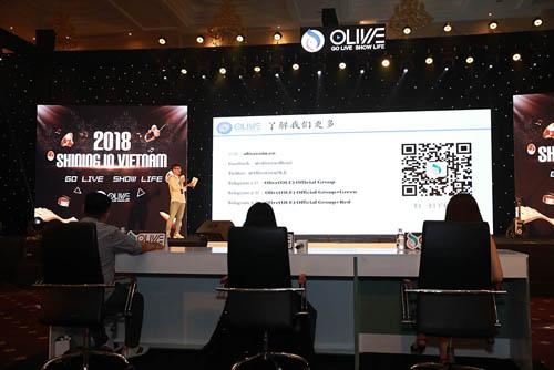 Olive là ứng dụng mạng xã hội với hình thức livestream video trực tiếp, trụ sở đặt tại Singapore.