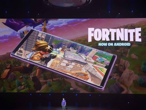 Fortnite xuất hiện trong buổi ra mắt Note9 của Samsung hôm 9/8.