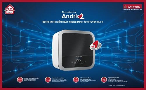Andris2 là dòng sản phẩm đánh dấu 30 năm xây dựng và phát triển thương hiệu ARISTON tại thị trường Việt Nam