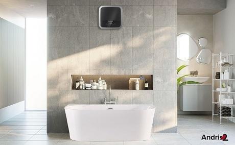 Dòng sản phẩm Andris2 tạo cảm giác hện đại cho không gian nhà tắm.