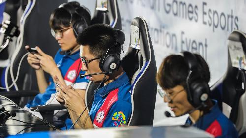 Các vận động viên thi đấu VOA tại Asiad 2018.