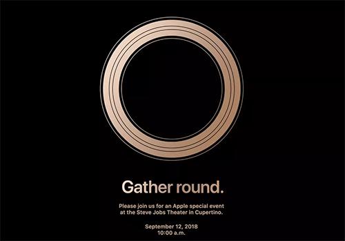 Thư mời sự kiện ra mắt iPhone mới của Apple.