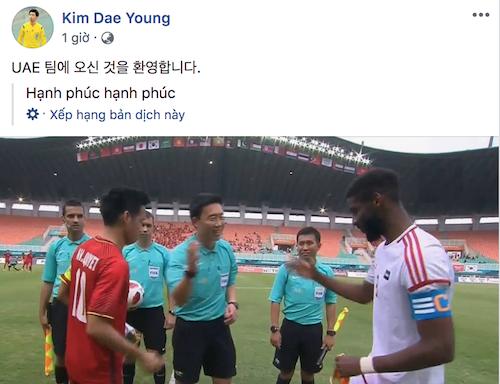 Trang giả mạo đưa ra nội dung khiêu khích người hâm mộ Việt.
