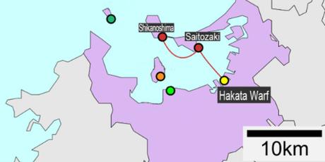 Soejima đã bơi vào hòn đảo không người giữa vịnh, sau khi rơi xuống biển.