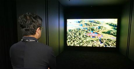 TV microLED của LG trưng bày trong phòng kín tại IFA 2018.