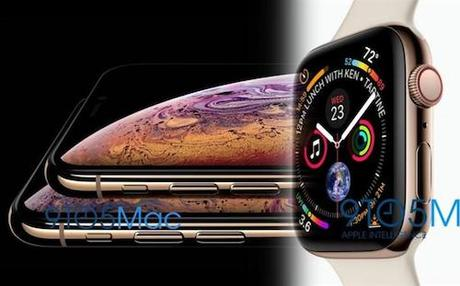 Ảnh rò rỉ iPhone Xs và Apple Watch series 4.