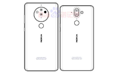 Một thiết smartphone Nokia khác có camera nhiều ống kính. Ảnh: Weibo.