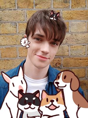 Ảnh selfie với nhãn động AR Sticker chụp bởi OPPO F9
