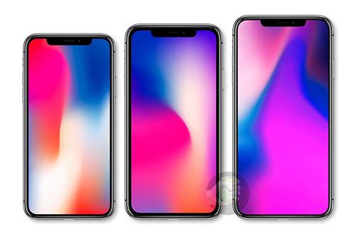 Ảnh dựng ba mẫu iPhone 2018.