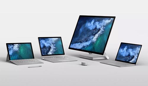 Dòng sản phẩm Surface với đầy đủ các model laptop, tablet, máy AIO và máy tính lai.