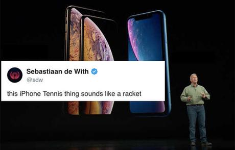 iPhone Xs/iPhone Tennis nghe như ra mắt một cái vợt.
