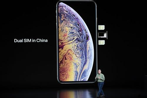 Hai sim vật lý sẽ dành cho các mẫu iPhone tại thị trường Trung Quốc. Ảnh: Yahoo.