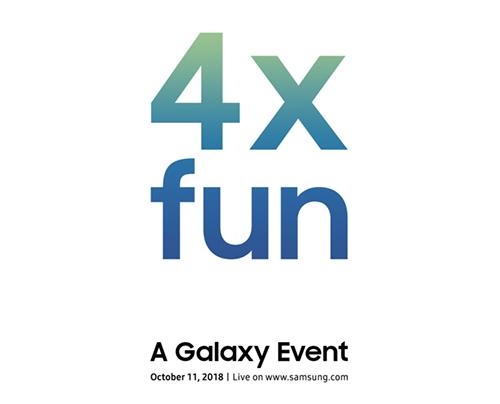 Thư mời sự kiện của Samsung.