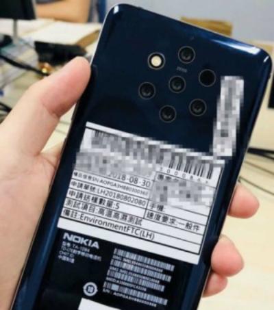 Hình ảnh rò rỉ về smartphone đa ống kính của Nokia.