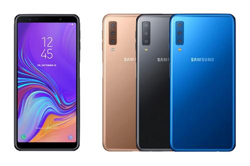 Ảnh rò rỉ được cho là Galaxy A7 (2018).
