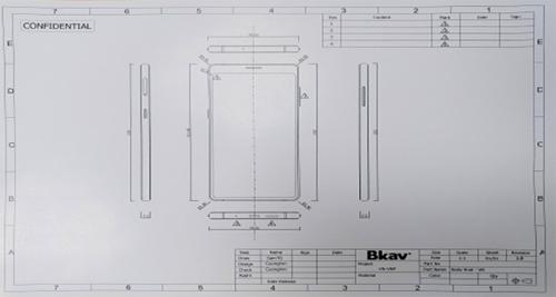 Bản vẽ thiết kế máy do Bkav công bố.