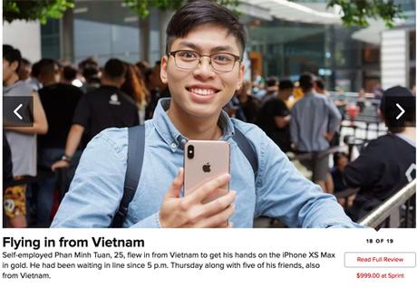 CNet ấn tượng với với những người Việt bay từ Việt Nam sang Singapore để mua chiếc iPhone đắt nhất thế giới.