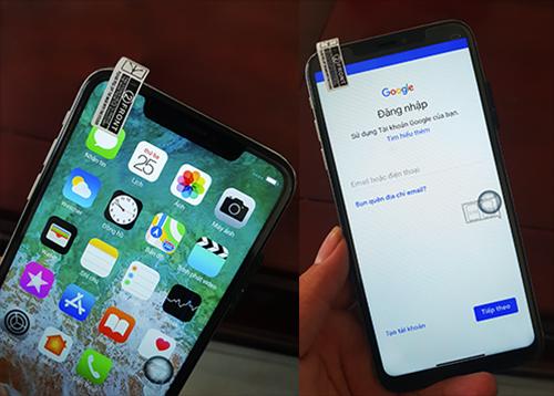 Máy có giao diện iOS nhưng lại yêu cầu đăng nhập cửa hàng ứng dụng bằng tài khoản Google.
