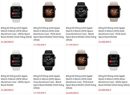 Giá bán đồng hồ mới của Apple được một đại lý đưa ra nhưng phải từ tháng 10 mới có sẵn hàng.