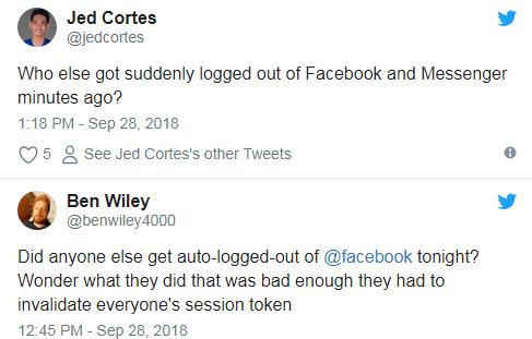 Người dùng lên Twitter phàn nàn về Facebook.
