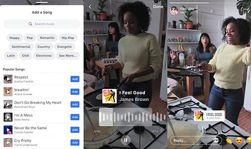 Một số người dùng Facebook đã nhận được tính năng chèn nhạc vào ảnh và video.