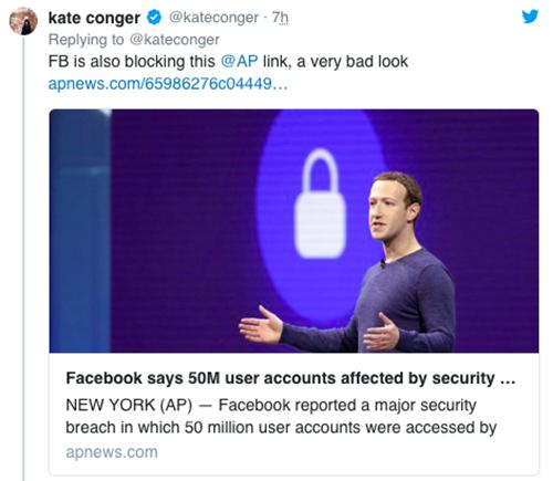 Facebook bị tố chặn người dùng chia sẻ thông tin mình bị tấn công