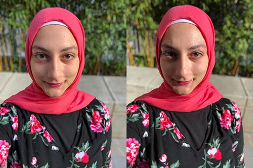 Ảnh chụp từ iPhone Xs (trái) và iPhone X.