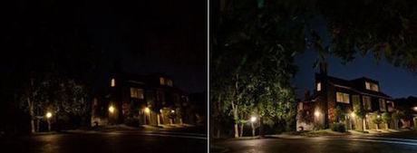 Công nghệ AI bổ sung màu sắc và chi tiết cho ảnh thiếu sáng. Nguồn: Google