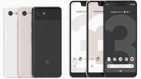 Điện thoại mới của Google có ba màu.