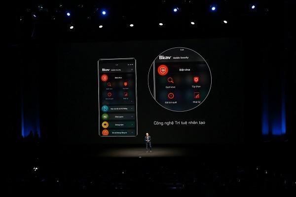Bphone 3 được trang bị công nghệ AI Trí tuệ nhân tạo vào tính năng diệt virus và công nghệ chặn tin nhắn rác.