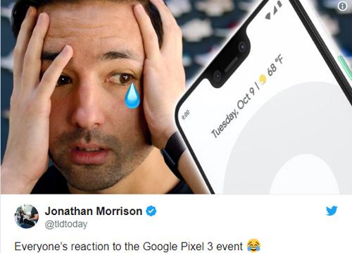 Phản ứng của người dùng khi nhìn thấy tai thỏ của Pixel 3 XL.