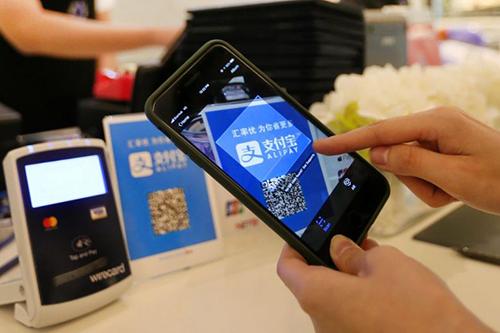 Thanh toán trên di động thông qua Alipay.