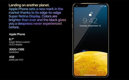 Không chỉ tăng kích thước màn hình, Apple còn tích hợp công nghệ nhận diện khuôn mặt mới FaceID 2.