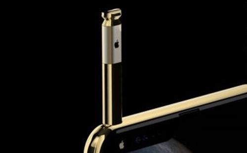 Bút Apple Stylus sẽ được rút ra từ đỉnh máy ngay trên phần tai thỏ, có kết nối Bluetooth và microphone.