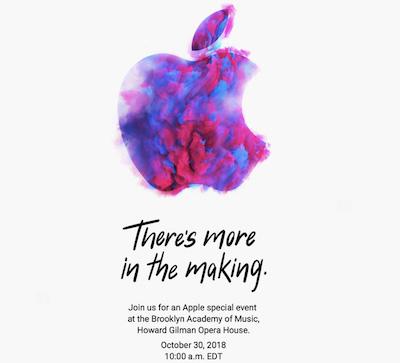 Thư mời sự kiện mới của Apple.