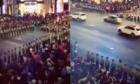 Video cảnh sát xếp hàng dài phân làn giao thông hút hai triệu lượt xem